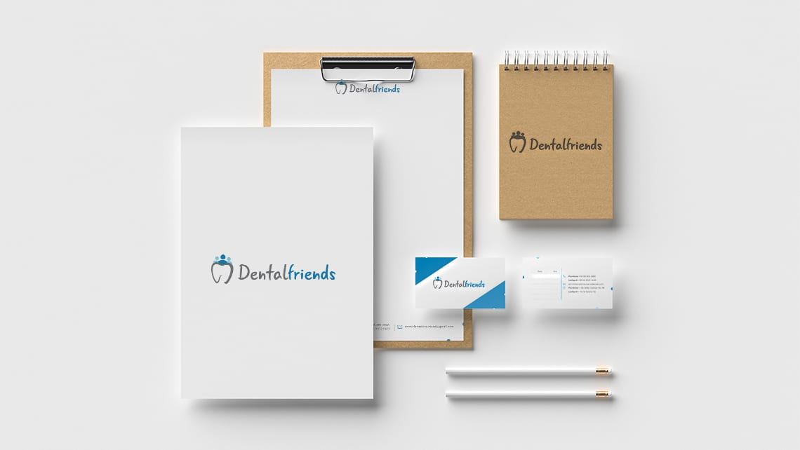biglietti-da-visita-logo-brand-dentista-dental-friends