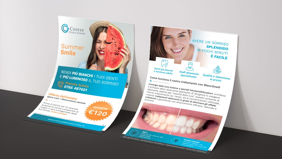 flyer-per-cliniche-dentali-corese